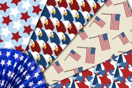4th of July Scrapbook papers