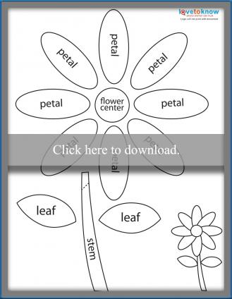 Paper piecing flower printable pattern