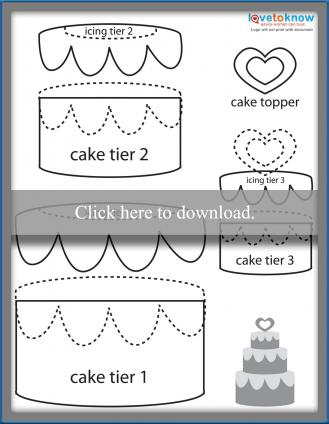 Paper piecing wedding cake printable pattern