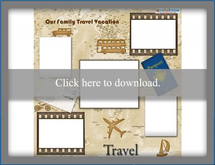 World travel scrapbook template printable pdf