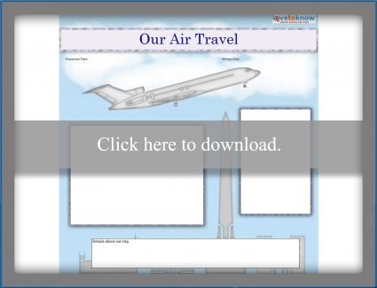 Air travel scrapbook template printable pdf