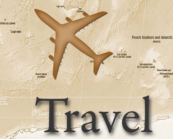 world travel scrapbook page