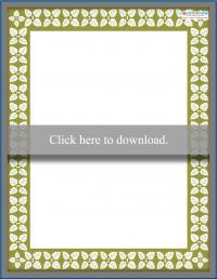 Printable Scrapbooking Borders vines 1