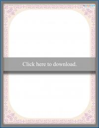 pale pink victorian floral scrapbooking border