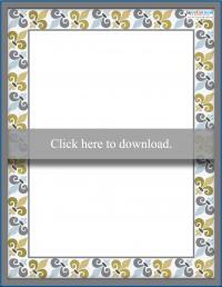 Printable Scrapbooking Borders Modern Fleur de Lis