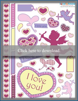 Free love scrapbook embellishments