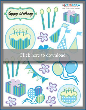 birthday scrapbook stickers printable pdf