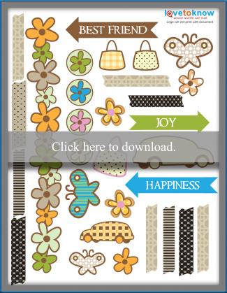 printable scrapbook stickers pdf