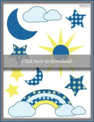 Sky theme die cuts