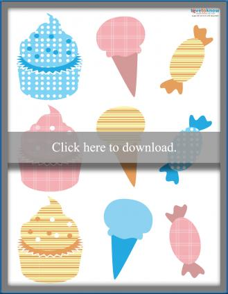 Sweets theme die cuts