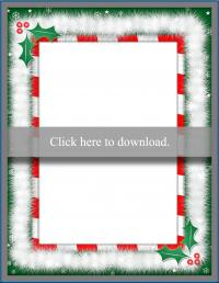 Christmas borders printable PDF