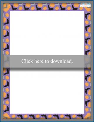 picture regarding Free Printable Halloween Borders named No cost Trip and Seasonal Sbooking Borders LoveToKnow