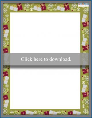 Christmas gifts printable border
