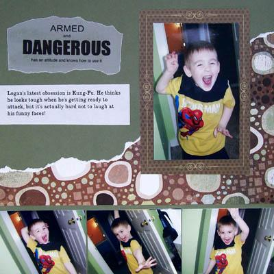 """Dangerous"" scrapbook layout"
