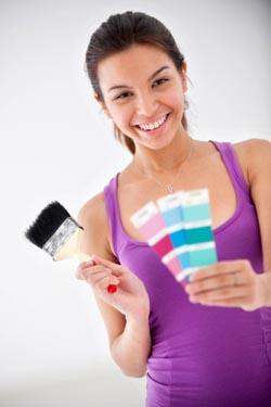 paint chips as free scrapbook supplies