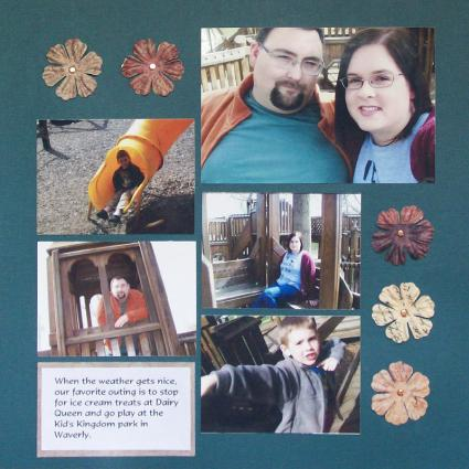 Simple Scrapbook Page Layouts