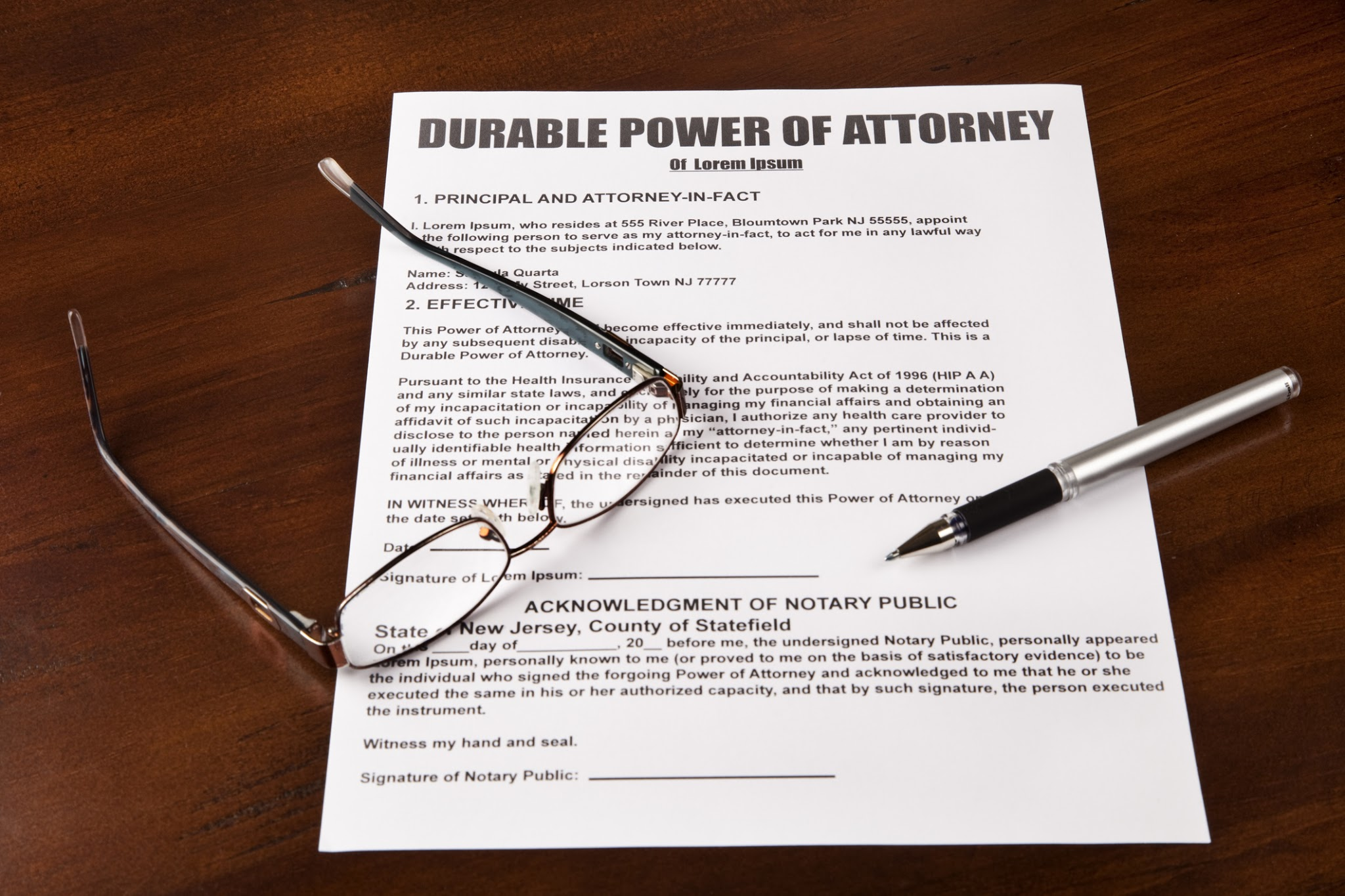 photograph relating to Free Printable Power of Attorney Form Nj titled Free of charge Downloadable Long lasting Total Energy of Legal professional Sort