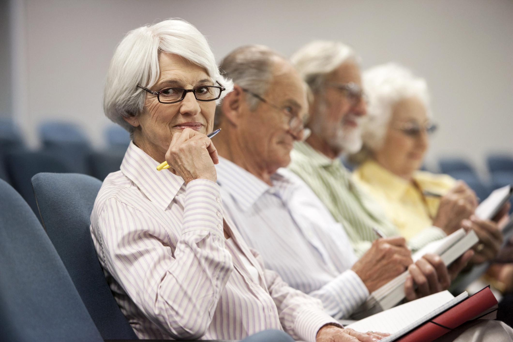Image result for classroom senior citizen