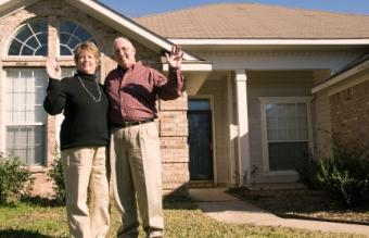 Senior couple in their new home and community