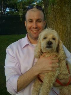 Martin Clinton and his dog