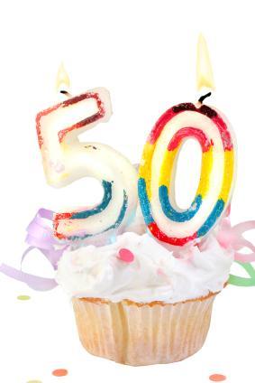 50th birthday cupcake