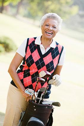 Senior woman golfer
