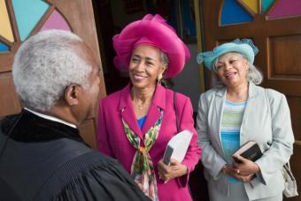 Seniors at church