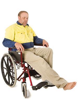 Wheelchair toe tap exercise
