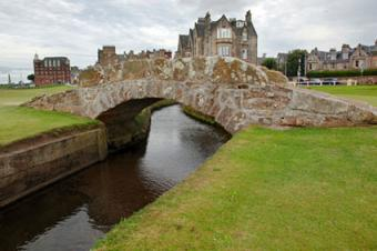 The famous Swilcan bridge on St Andrew's Old Course