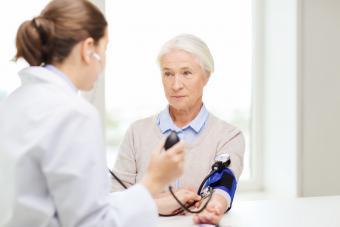 getting blood pressure check