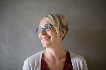 glasses with fun pixie cut