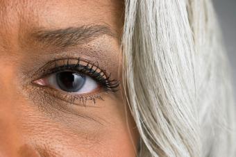 Close-up of left eye