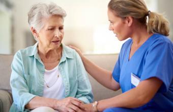 senior patient in a nursing home