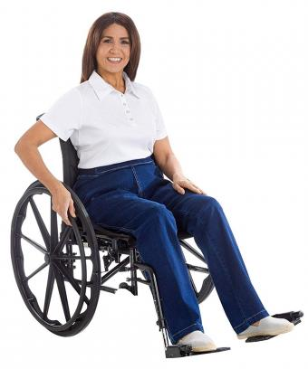 Open-Back Wheelchair Jeans by Izzy Camilleri