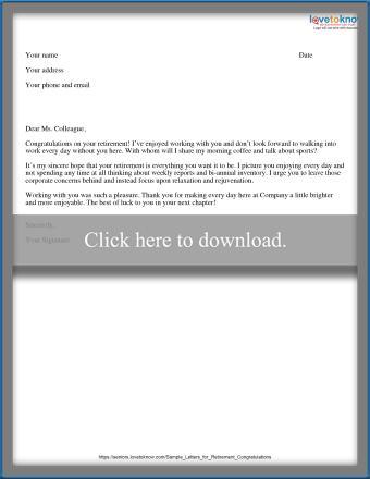 Sassy retirement letter