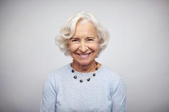 Senior businesswoman smiling