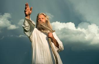 man with long grey hair