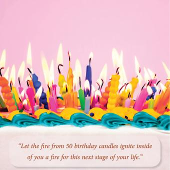50 birthday candles
