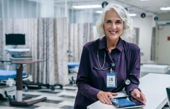 doctor holding digital tablet in hospital