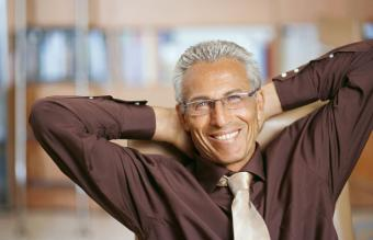 Senior businessman sitting