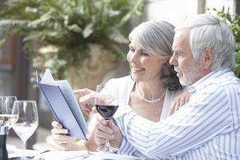 Senior couple on a date