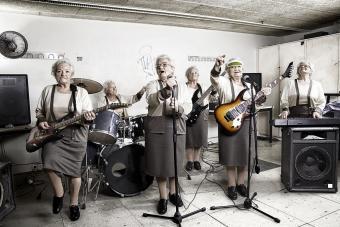 Senior women rock band