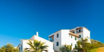 Spanish retirement villa on a sunny day
