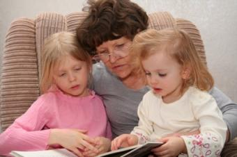 Grandmother with the granddaughters she's raising