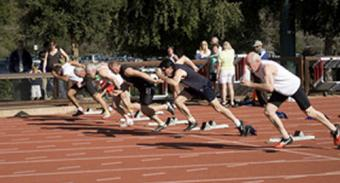 Lifelong Fitness Club members track race