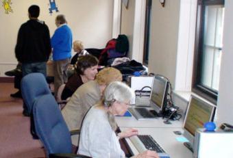seniors working on computers at brain emporium