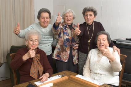 Happy group of senior women