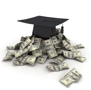 A graduation cap and money