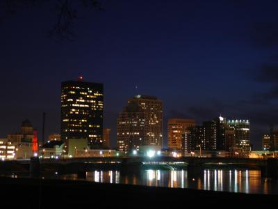 Dayton Night Skyline
