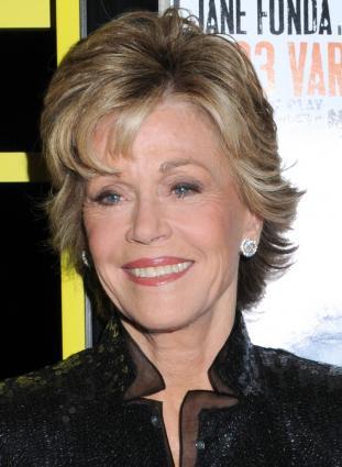 Jane Fonda's short hairstyle. Photographer: Janet Mayer / PR Photos